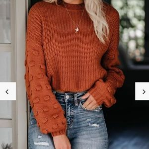 VICI full of cheer knit sweater in rust